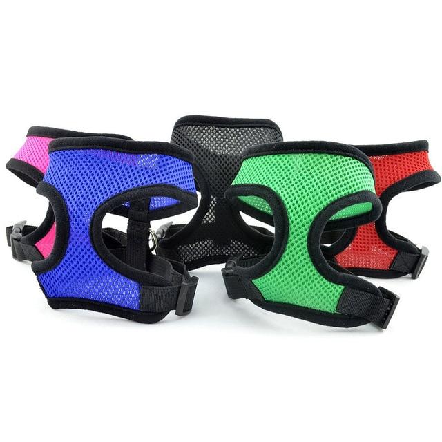5 colori XS ~ XL nylon regolabile mesh traspirante Pet dog harness gattino e col