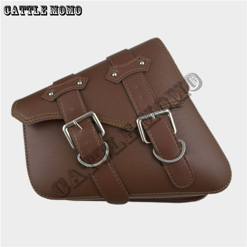 Motorcycle Saddle Bags Side Bag Brown Motor Chopper Bike Tool For Sportster Xl883 Xl1200 Pu Leather In From