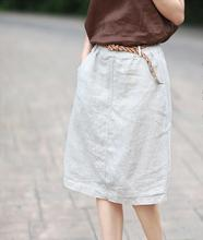 spring new skirts women's clothing art elastic wai