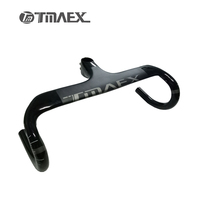 TMAEX Bike Carbon Road Handlebar New Type Bicycle Handle Bar Ultra Light Integrated Handlebars And Stem