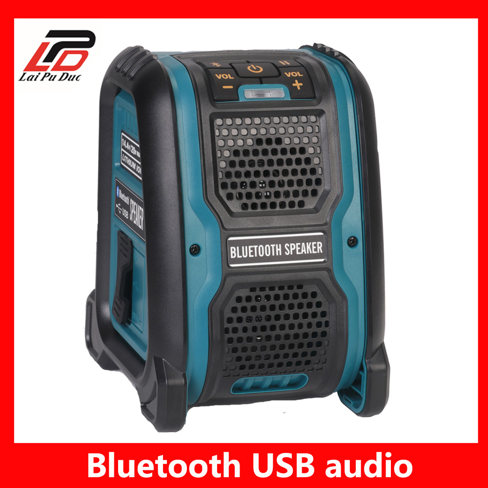 14.4V 18V Li-ion Battery Bluetooth Speaker MP3 Player Loudspeaker Amplifier 15W For Dewalt For Makita For Bosch For Milwaukee14.4V 18V Li-ion Battery Bluetooth Speaker MP3 Player Loudspeaker Amplifier 15W For Dewalt For Makita For Bosch For Milwaukee