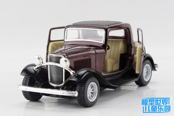 1PC 12.5cm Alloy crown model car intelligence became 1932 classic old FORD
