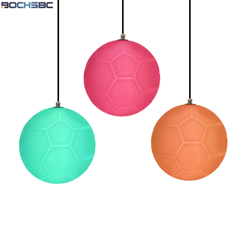 Здесь продается  BOCHSBC Glowing Football Light Fixture for Bar Bedroom Living Room Dinning Room Pendant Lamp Resin Copa del Mundo Football Lamps  Свет и освещение