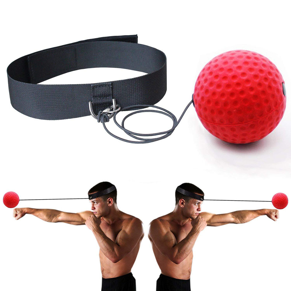 Boxing Magic Ball Reflex Speed Training With Headband Boxing Punching Balls Hand Eye Coordination Fitness Martial Arts Supplies