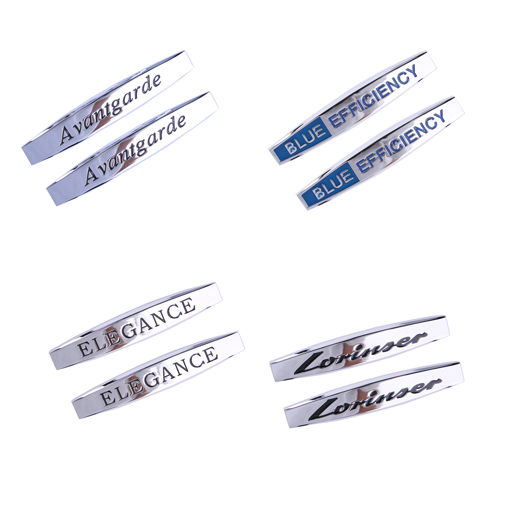 Car Metal Blade Badge Stickers Vehicle Logo Decals Protector Fender ELEGANCE For <font><b>Mercedes</b></font>-Benz <font><b>W124</b></font> W210 W204 W203 W168 W140 image