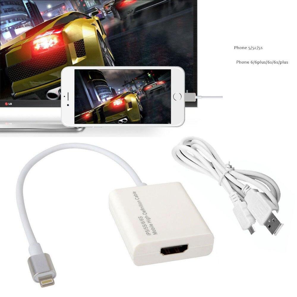Цена за Док-Станция HDMI адаптер для iPhone 6 6 S плюс 7 плюс 5 5S SE для iPad Pro AIR Мини литого телефон к HDMI телевизор проектор Monitor Видео кабель