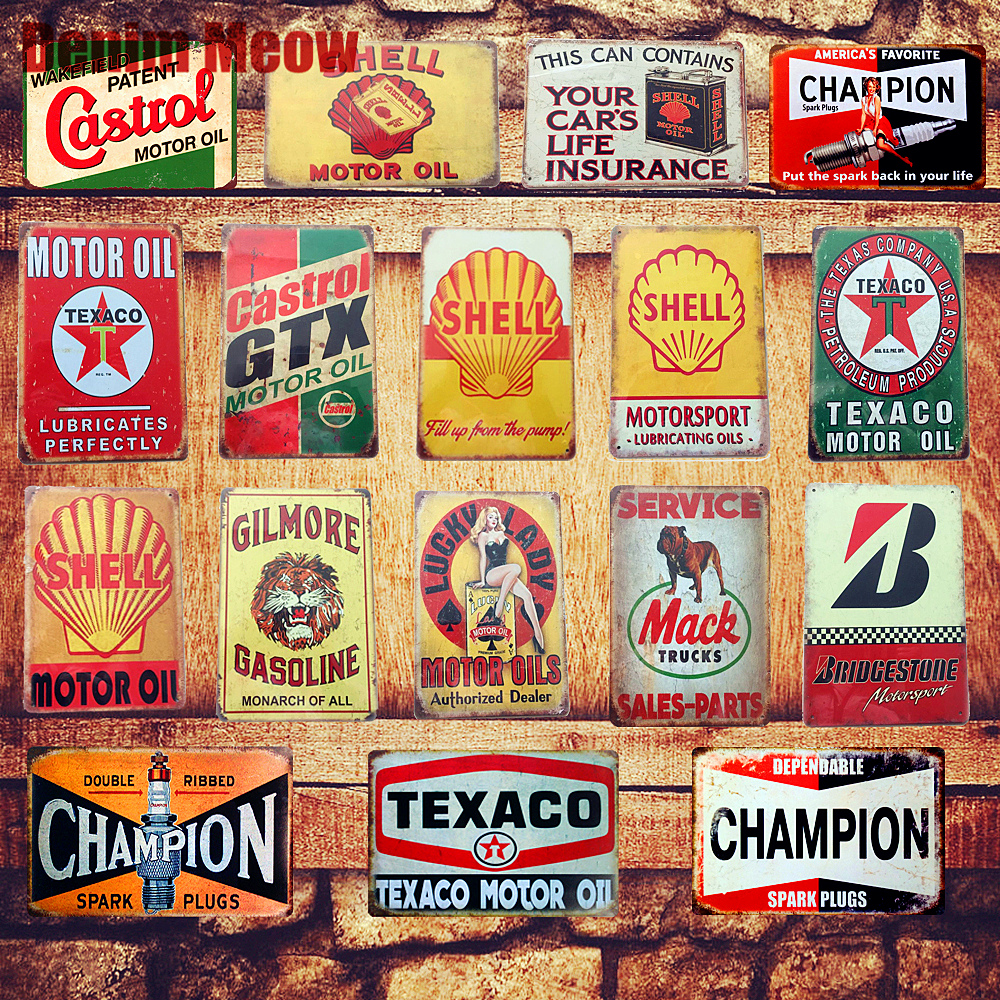 Motor Oil Plaque Vintage Metal Tin Signs Home Bar Pub Garage Gas Station Decorative Iron Plates Wall Stickers Art Poster N198 legos for boys ninjago