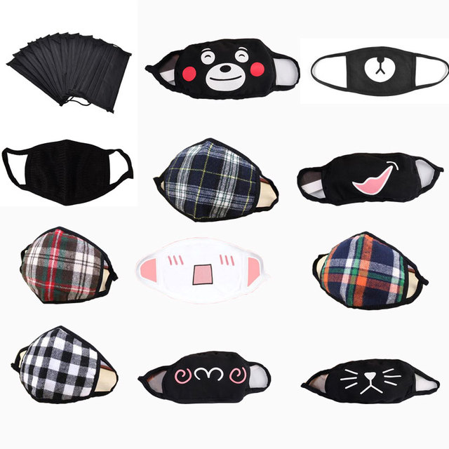 1PCS Face Mouth Mask Unisex Mouth muffle Unisex Respirator Stop Air Pollution Cartoon Lovely Cotton Mask