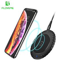 FLOVEME Qi Wireless Charger For Samsung 10w Fast Charger Wireless Charging Pad For Iphone Xiaomi Mi Huawei Wireless Mobile Phone(China)