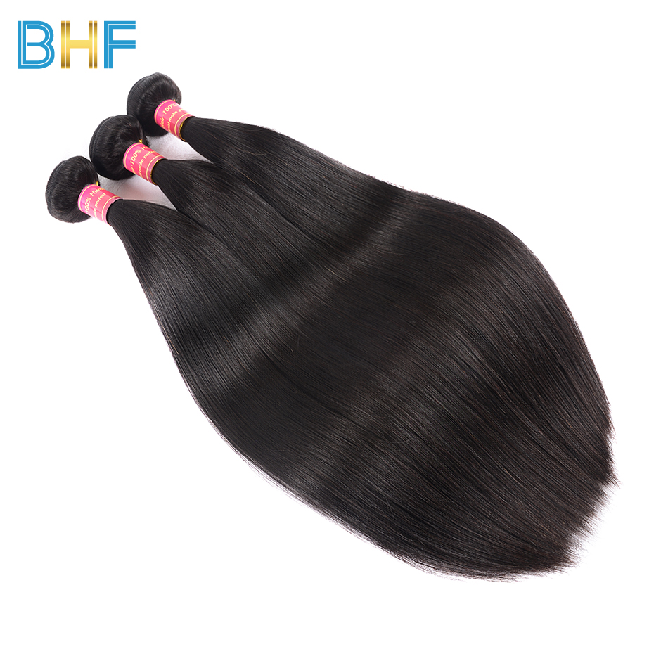 BHF Malaysian Straight Hair Extensions 8-30 Inch 100% Human Hair Bundles Natural Color 3 Bundles Deals Malaysian Virgin Hair