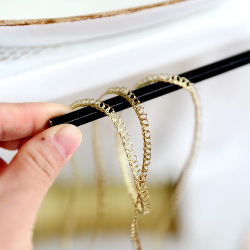 KONMAY 10pcs 1.4 Clothing 3.5cm Tiny Tri-Layered Tassels with Gold Jump Ring for Jewelry Making