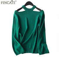 Pullover Women 2018 Spring Summer High Quality 100 Pure Cashmere Off The Shoulder Loose Sexy Jumpers