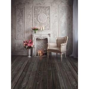 Image 2 - Allenjoy photography backgrounds fireplace bonsai armchair board European indoor wedding backdrop photocall photo studio