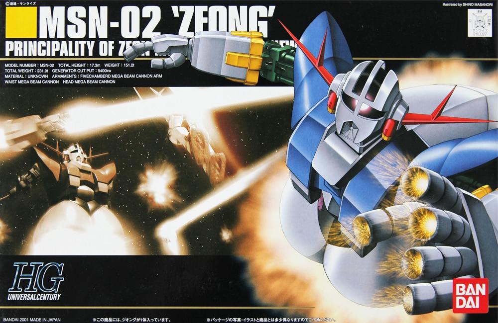 1PCS Bandai HGUC 022 1:144 ZEONG MSN-02 Gundam Mobile Suit Assembly Model Kits Anime action figure Gunpla lbx toys ohs bandai mg 179 1 100 sengoku astray gundam mobile suit assembly model kits