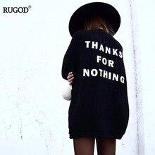 Rugod Новое поступление осень-зима весна вязаный свитер Для женщин длинные строчка Свитеры для женщин Кардиган Для женщин