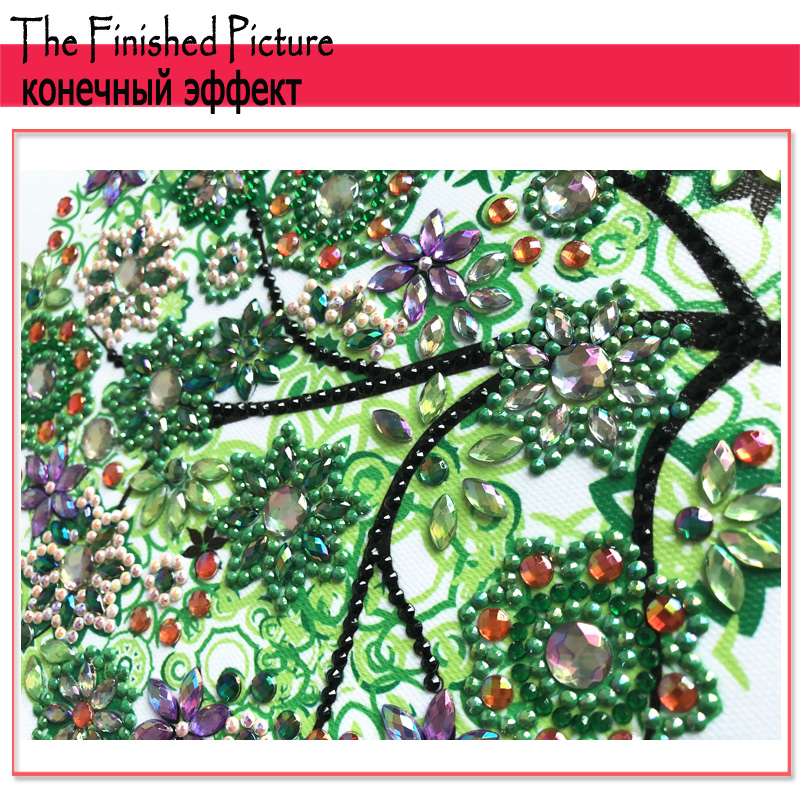 RUBOS DIY 5D Diamond Embroidery Colorful Tree Butterfly Bead Diamond Painting Cross Stitch Pearl Crystal Sale Hobby Gift Decor (3)