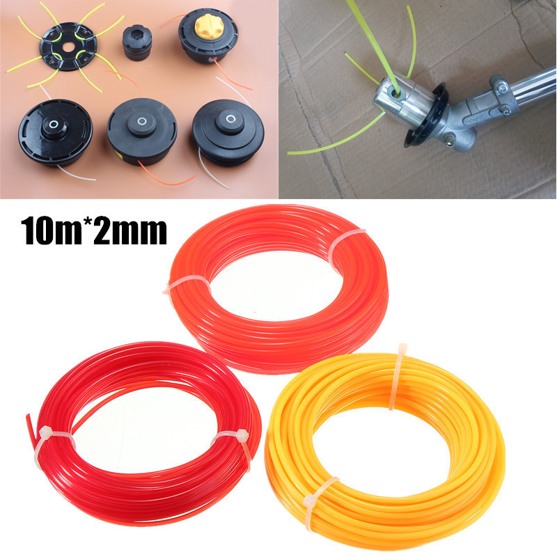 10m X 2mm Strimmer Line Nylon Cord Wire Round String Brushcutter Grass Trimmer