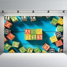 Фон для фотосъемки Mehofoto Back to School, строительные блоки, фотофоны, студия, буквы и цифры, G-648