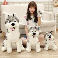 Creativo de Queja perro husky perro de Peluche juguetes almohada Simulado Imitación perro muñeca de Dibujos Animados regalo de cumpleaños 55 cm