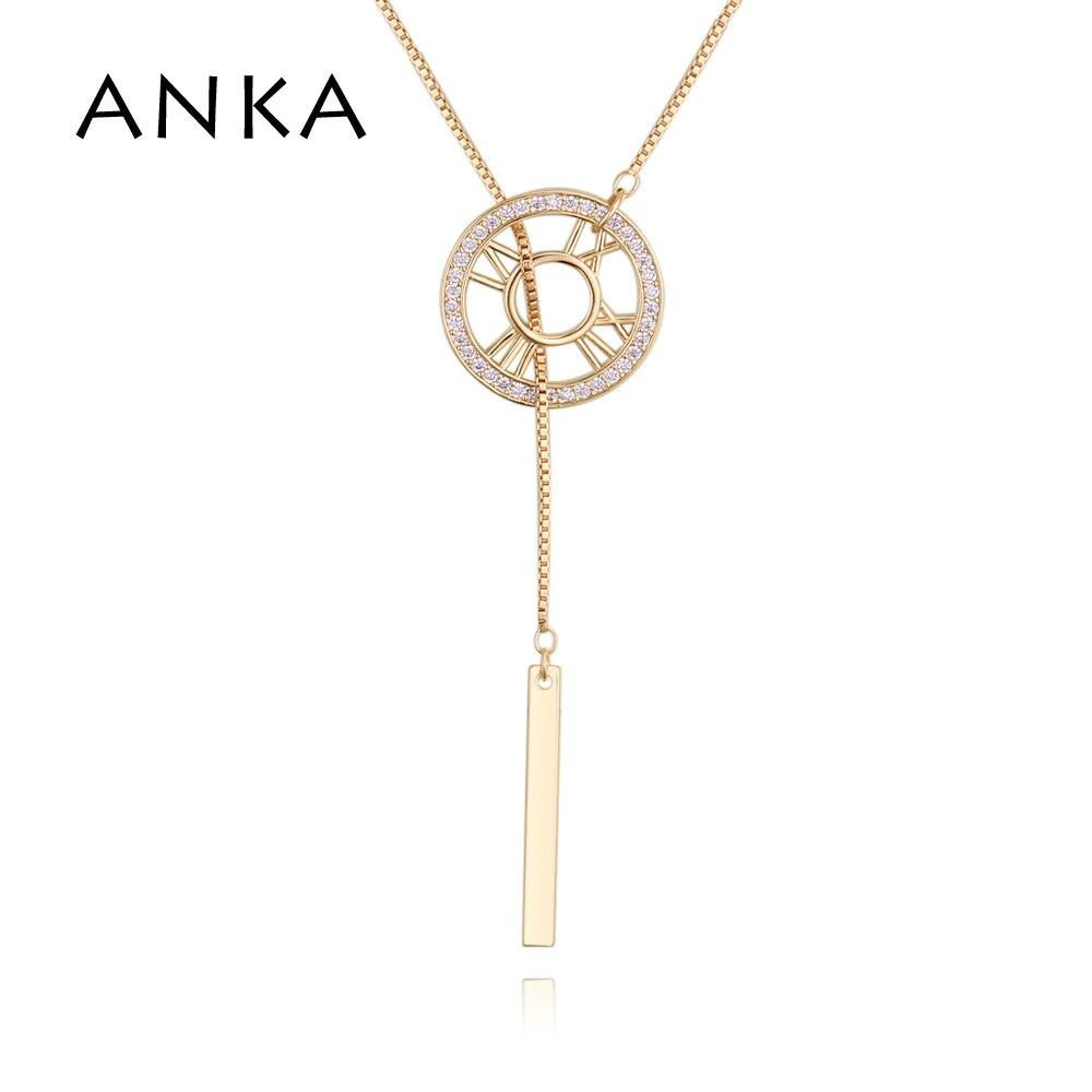5a74fb8b0a8f ANKA rueda zirconia cúbica largo colgante collar para mujer encanto  zirconia colgantes collares ...
