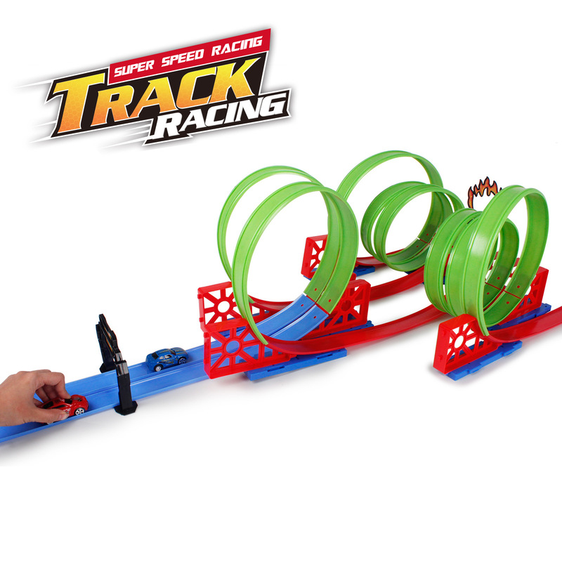 51PCS High Speed Racing Car High Speed Competition Car Track Racing Toy Children Day Gift For Kid Model D663-105 Free Shipping