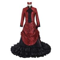 Cosplaydiy Women Victorian Evening Ball Gown Dress Adult Renaissance Medieval Fancy Dress L320