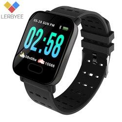 Lerbyee A6 Смарт-часы монитор сердечного ритма Спорт Фитнес трекер крови Давление напоминание Для мужчин часы для iOS Android подарок