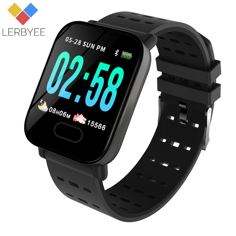 Lerbyee A6 Smart Watch Heart Rate Monitor Sport Fitness Tracker Blood Pressure Call Reminder Men Watch for iOS Android Gift sunkinfon sg5 smart watch mtk2502 sport smartwatch heart rate monitor fitness tracker call sms reminder camera for android ios