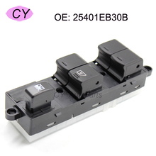 High Quality Power Window Lifter Switch For Nissan Pathfinder R51 Navara King Cab Pickup (left) 25401-EB30B 25401EB30B
