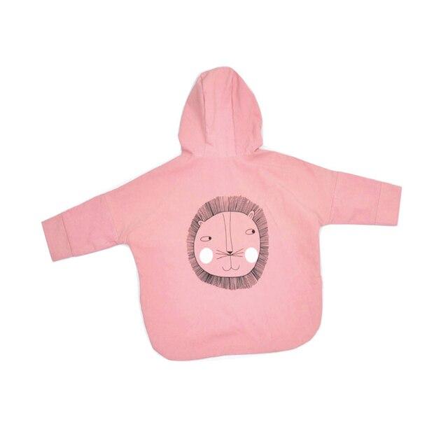 2016 Korean Autumn Long Sleeve Printed Children Coat Lion Shark Casual Coat Kids Jacket Outwear Children Clothing