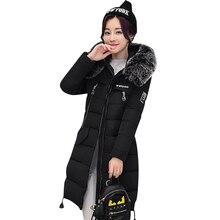 Nice New Winter Coat Women Jacket Faux Fur Collar Warm Jack Hooded Women Long Coat Cotton Jacket Parka Casaco Plus Size