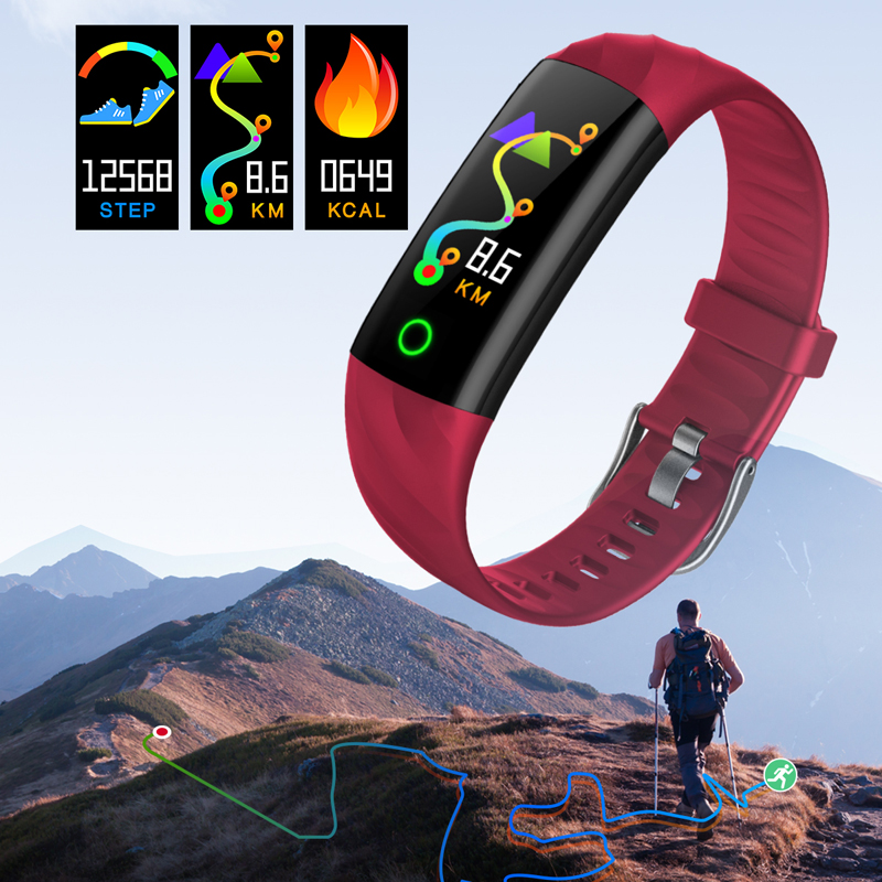 GIAUSA Smart Bracelet Pedometer Blood Oxygen Heart Rate Monitor Fitness Tracker Sport Watch Swimming Waterproof Smart Wristband in Smart Wristbands from Consumer Electronics