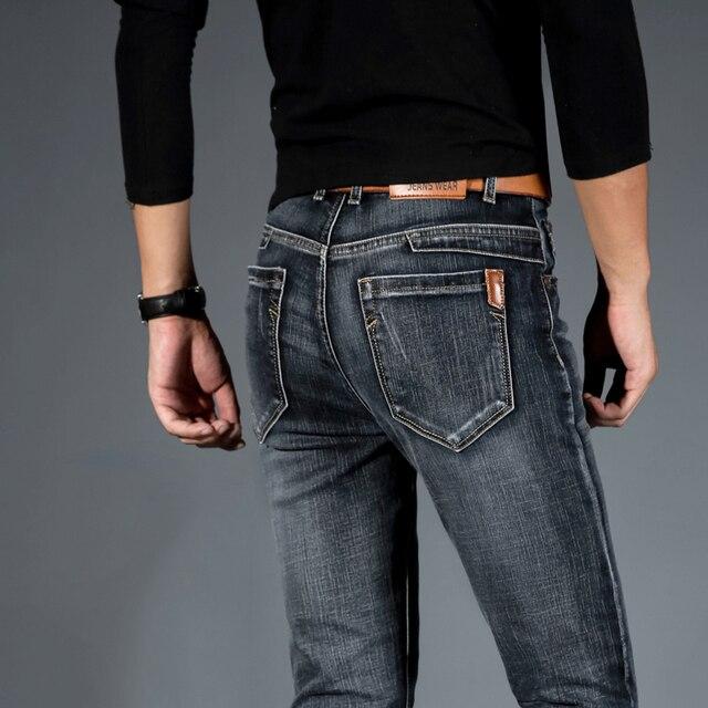남성 청바지 Jean Homme Jogger 바이커 Masculina 슬림 팬츠 Pantalon Vaquero Hombre 힙합 헐렁한 캐주얼 Harem Distressed Designer