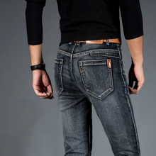 Pantalones vaqueros ajustados para Hombre, pantalón Vaquero, estilo Hip Hop, holgado, informal