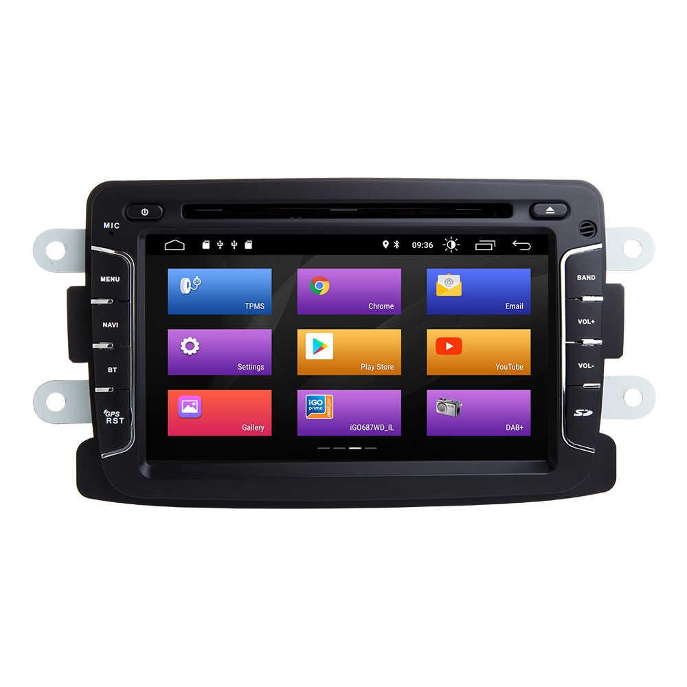 2 din Android 9,0 автомобильный мультимедийный плеер для Dacia Dokker Duster Renault Lada Xray Dacia Sandero 2 logan Captur 2 навигационное радио