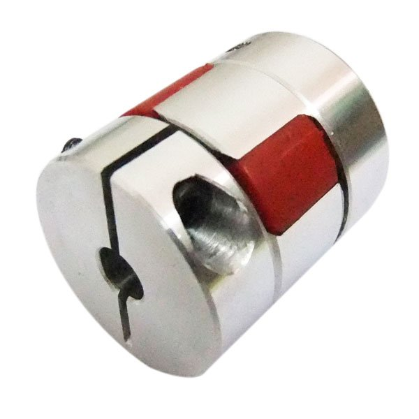 Connector 6.35mm to 8mm Spider Shaft Coupling 6.35x8mm Jaw Flexible Coupling/Plum Coupler Diameter 25mm Length 30mm 6mm to 6 35mm spider shaft coupling 6x6 35mm jaw flexible coupling precision plum coupler diameter 25mm length 30mm