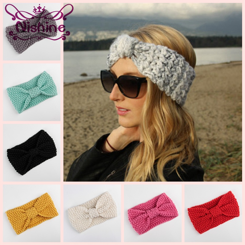 Detail Feedback Questions about Nishine New Knot Crochet Winter Headband  Women Girl Hair Accessories Knitted Ear Warmer Adult Girls Turban Head Band  ... 19cb6ddebc30