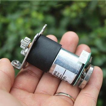 DC 5V 6V 9V 12V 70RPM Mini Full Metal Gear Reducer Motor Micro 27mm Electric Gearbox Speed Encoder DIY Robot Smart Car image