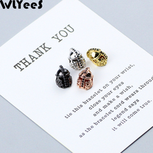 WLYeeS 2pcs Spartan helmet Pendants Copper beads 8mm Micro-Inlay Crystal metal Charm Loose beads For Jewelry making DIY bracelet mixed wholesale micro pave beads diy jewelry making findings copper charm spartan warrior crown skull beads for bracelet