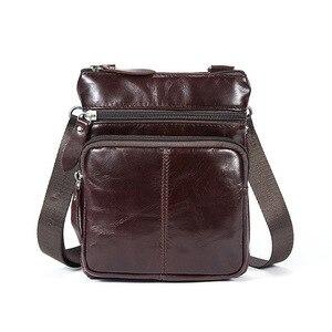 Image 5 - Omuz çantası erkekler omuz hakiki deri çanta Flap küçük erkek erkek Crossbody çanta erkekler için doğal deri çanta