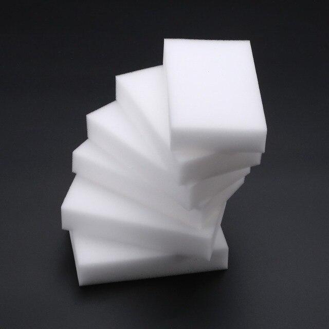 50 Pz White Magic Spugna Spugne Per La Pulizia Eraser Cleaner Schiuma Multifunzi