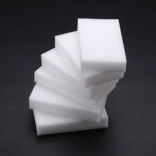 Купить с кэшбэком 50Pcs White Magic Sponge Cleaner Super Decontamination Eraser Home Kitchen Bathroom Cleaning Sponges 10 x 6 x 2cm