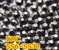 Ss6, ss10, ss16, ss20, ss30 Jet Hematite alta calidad DMC hierro en cristal Rhinestones / Rhinestones calientes cristalinos del arreglo