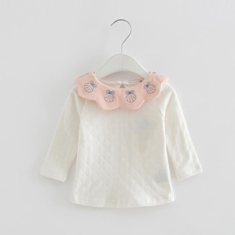 Großhandel 5 Teile/los Mädchen Hemd 2018 Frühling Marke Fashion Nette Blumen Kragen Shirts Kinder Kleidung Bluse Tops 0-2 T