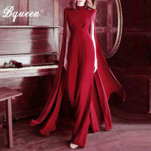 Bqueen Women Celebrity Runway Jumpsuits Strapless Elegant Jumpsuit Sexy Bodycon Bodysuit 2019 Fashion(China)