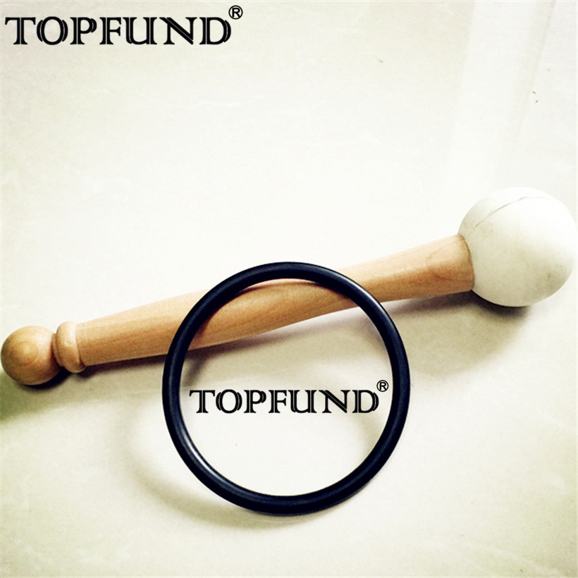 TOPFUND C # Примечание надпочечников чакра красный Цветной Матовый Кварцевый Поющая чаша 10 , уплотнительное кольцо и молоток, для медитации