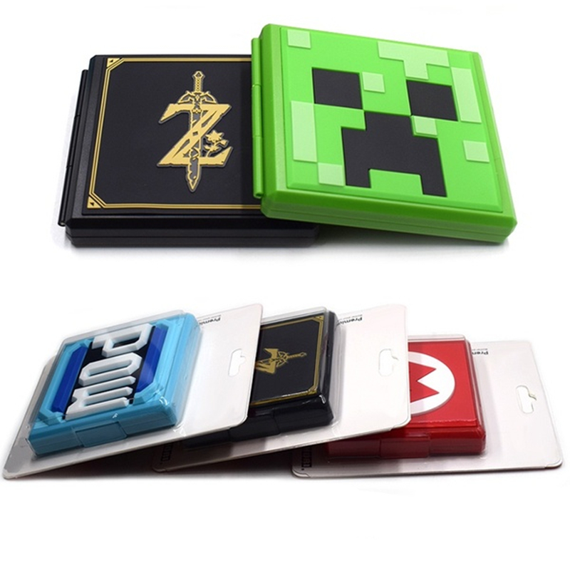 6 Color Portable Game Cards Storage Case Nintend Switch Hard Shell Box for Nintend Switch NS Accessories 12 in 1 Cards Case 1
