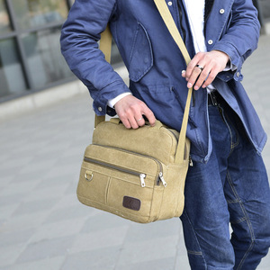 Kissyenia خمر قماش حقيبة كمبيوتر محمول الرجال حقيبة حقيبة يد للسفر الرجال حقائب عمل الذكور حقيبة ساع حقائب كتف KS1012