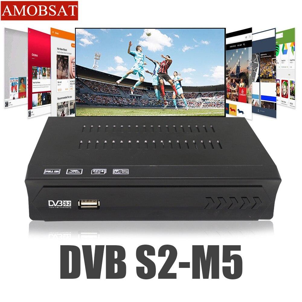 DVB S2 TV BOX récepteur Satelllite entièrement HD numérique DVB-S/S2 H.264 MPEG-2/4 décodeur prise en charge CCcam HD FTA IKS SKS Smart DVB-S2