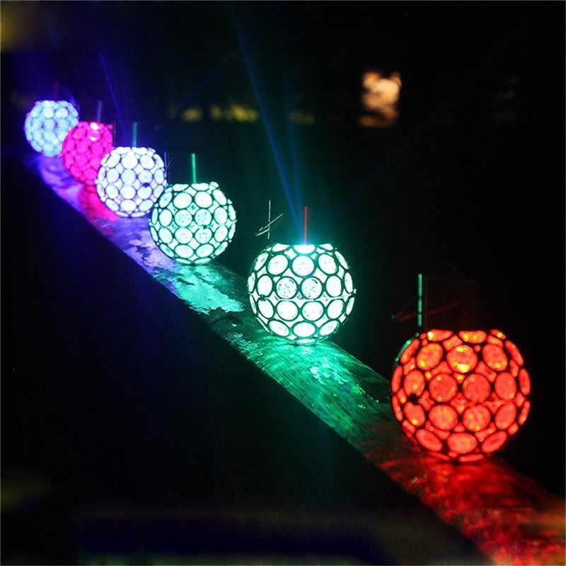 Открытый Солнечный пейзаж лампа Павлин глаз подвесной светильник светодиодный цвет изменить подвесные светильники для виллы сад двора уличный патио
